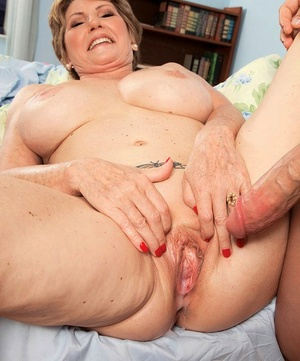 Short haired granny Bea Cummins fucks a youthfull man while her husband watches