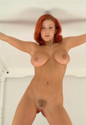 Fair skinned redhead dildos her filthy asshole while fully bare