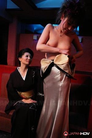 Japanese sweetheart Sayuri Mikami entertains a crazy couple with FFM sex