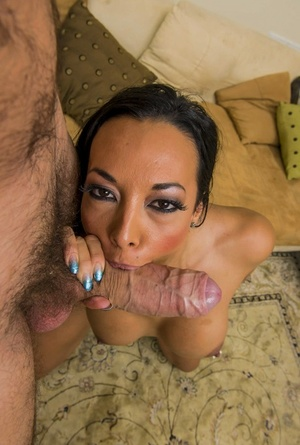 Only really huge dick can make cum such a hot woman as brunette Rio Lee is