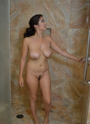 Phenomenal Mai Ly washes her exotic big Asian tits and vagina in the shower